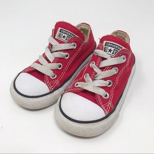Red Toddler Low Top Converse